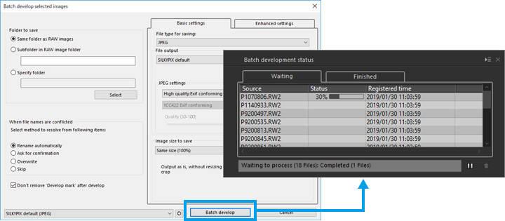 Develop RAW Images   SILKYPIX Developer Studio 8 SE Startup